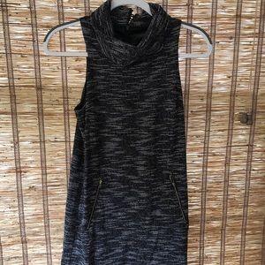 THML black heathered sleeveless dress size M
